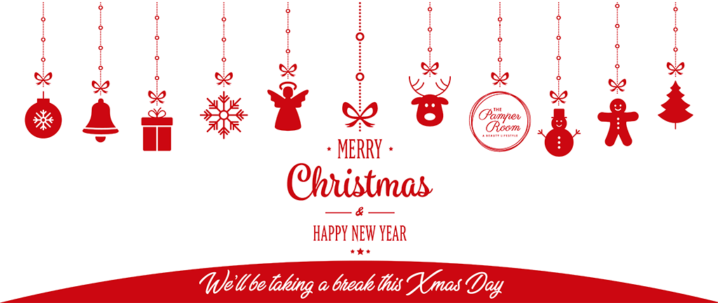 The Pamper Room Wishes all our customers and friends Merry Christmas & A Happy New Year