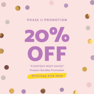 Phrase II Promotion – Products bundle promotion 20% OFF!